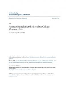 Assyrian Bas-reliefs at the Bowdoin College
