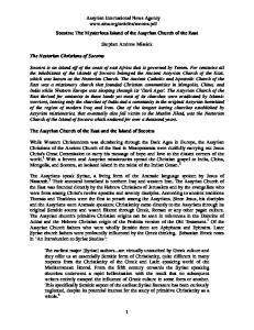 Assyrian International News Agency  Socotra: The Mysterious Island of the Assyrian Church of the East
