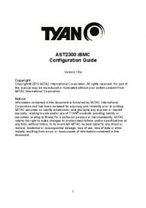 AST2300 ibmc Configuration Guide