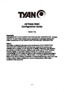 AST2500 ibmc Configuration Guide