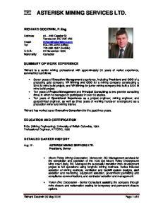 ASTERISK MINING SERVICES LTD