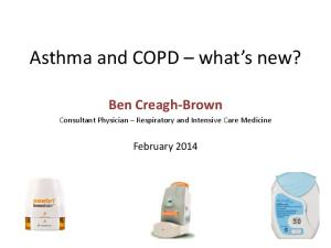 Asthma and COPD what s new?
