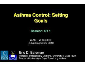 Asthma Control: Setting Goals