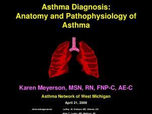 Asthma Diagnosis: Anatomy and Pathophysiology of Asthma