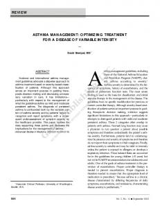 Asthma management guidelines, including