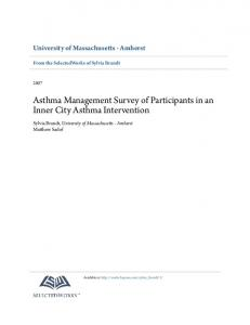 Asthma Management Survey of Participants in an Inner City Asthma Intervention