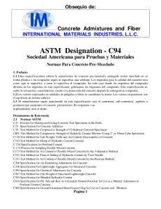 ASTM Designation - C94