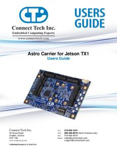 Astro Carrier for Jetson TX1 Users Guide