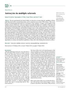 Astrocytes in multiple sclerosis