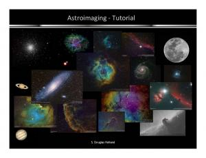 Astroimaging Tutorial. S. Douglas Holland