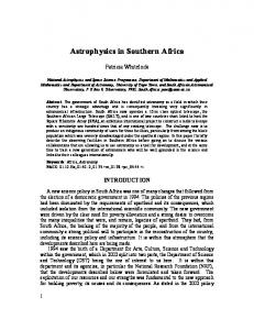 Astrophysics in Southern Africa