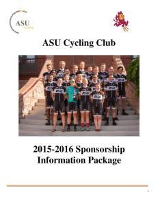 ASU Cycling Club Sponsorship Information Package
