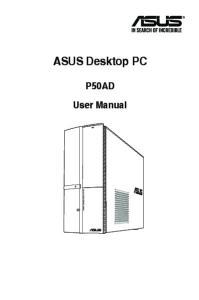 ASUS Desktop PC. P50AD User Manual