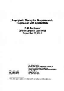 Asymptotic Theory for Nonparametric Regression with Spatial Data