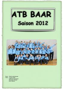 ATB BAAR Saison 2012