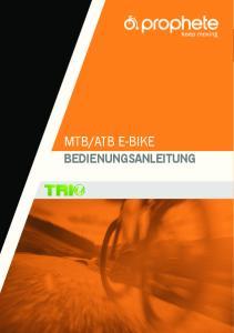 ATB E-BIKE BEDIENUNGSANLEITUNG