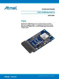 ATBTLC1000 Xplained Pro. Preface. SmartConnect Bluetooth USER GUIDE