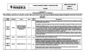 ATENCION Y SERVICIOS A MINEROS Y A GRUPOS DE INTERES