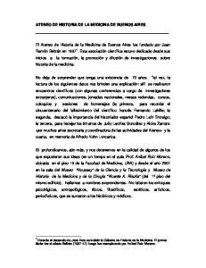 ATENEO DE HISTORIA DE LA MEDICINA DE BUENOS AIRES