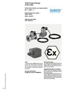 ATEX Product Range ATEX II3GD