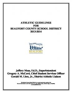 ATHLETIC GUIDELINES FOR BEAUFORT COUNTY SCHOOL DISTRICT