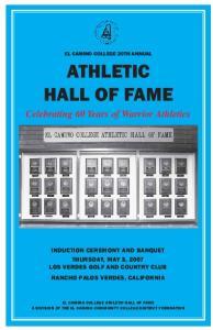 ATHLETIC HALL OF FAME Celebrating 60 Years of Warrior Athletics