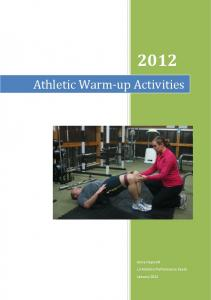 Athletic Warm-up Activities