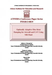 ATINER's Conference Paper Series IND