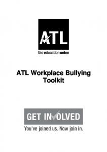 ATL Workplace Bullying Toolkit