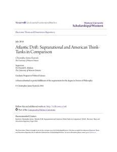 Atlantic Drift: Supranational and American Think- Tanks in Comparison