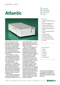 Atlantic. Industrial High Power Picosecond Lasers