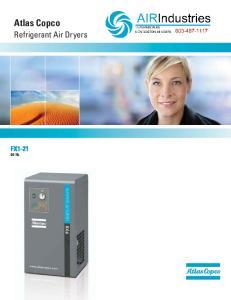 Atlas Copco. Refrigerant Air Dryers FX Hz