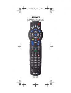 ATLAS PVR Universal Remote Control Users Guide
