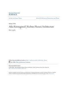 Atlas Reimagined Richter, Flusser, Architecture