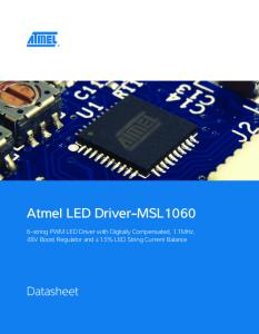 Atmel LED Driver-MSL1060