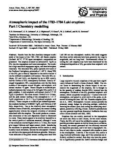 Atmospheric impact of the Laki eruption: Part I Chemistry modelling
