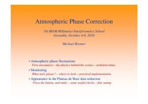 Atmospheric Phase Correction