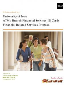 ATMs-Branch Financial Services-ID Cards Financial Related Services Proposal