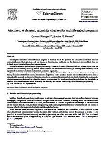 Atomizer: A dynamic atomicity checker for multithreaded programs