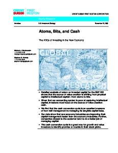 Atoms, Bits, and Cash
