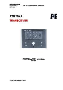 ATR 720 A TRANSCEIVER