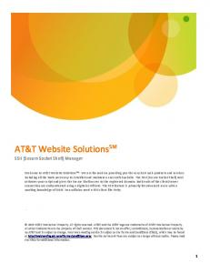 AT&T Website Solutions SM SSH (Secure Socket Shell) Manager