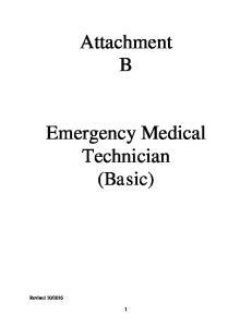 Attachment B. Emergency Medical Technician (Basic)