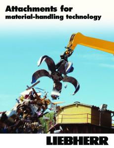 Attachments for material-handling technology