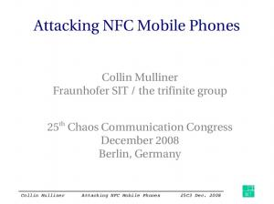 Attacking NFC Mobile Phones