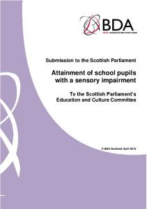 Attainment of school pupils with a sensory impairment