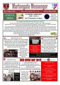 ATTENDANCE AWARD WELL DONE CLASS % Attendance for March