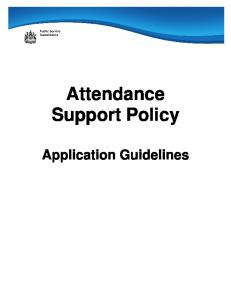 Attendance Support Policy. Application Guidelines