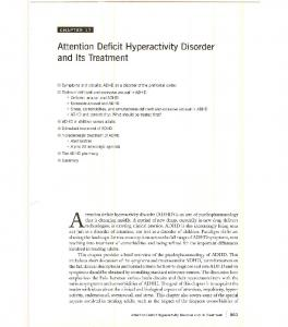 Attention Deficit Hyperactivity Disorder and Its Treatment