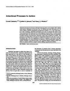 Attentional Processes in Autism